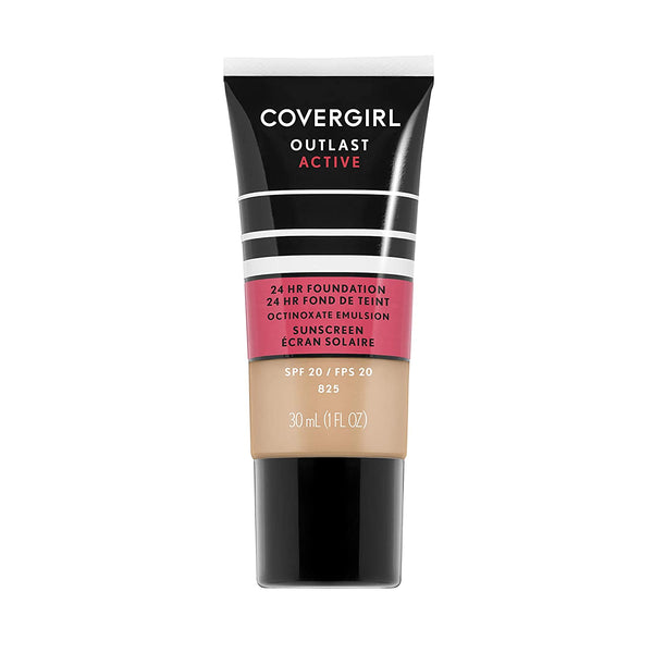 WHOLESALE COVERGIRL OUTLAST ACTIVE FOUNDATION 1 OZ - BUFF BEIGE 825 - 72 PIECE LOT