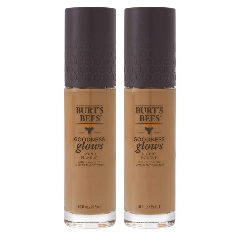 WHOLESALE BURT'S BEES GOODNESS GLOWS LIQUID MAKEUP 1 OZ (PACK OF 2) - RICH CARAMEL - 48 PIECE LOT