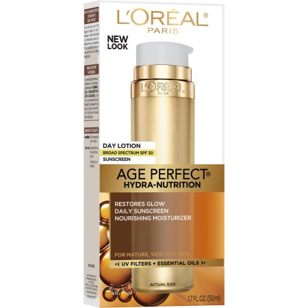 WHOLESALE LOREAL AGE-PERFECT HYDRA NUTRITION DAY LOTION 1.7 OZ. - 48 PIECE LOT
