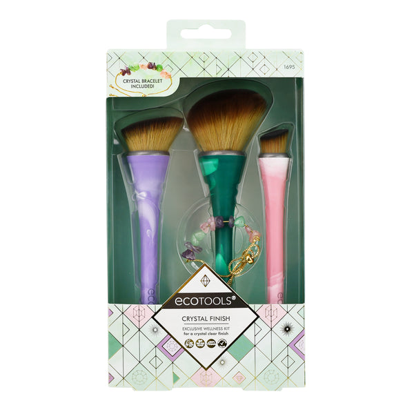 WHOLESALE ECOTOOLS CRYSTAL FINISH BRUSH SET - 48 PIECE LOT