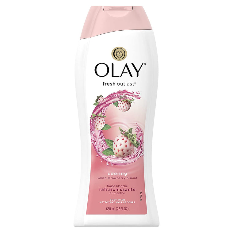 WHOLESALE OLAY FRESH OUTLAST COOLNG WHITE STRAWBERRY & MINT BODY WASH 22 OZ - 48 PIECE LOT