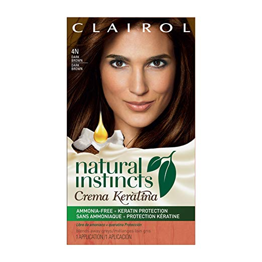 WHOLESALE CLAIROL NATURAL INSTINCTS CREME KERATINA HAIR COLOR - DARK BROWN 4 COFFEE CREME - 48 PIECE LOT