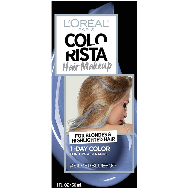 WHOLESALE LOREAL COLORISTA HAIR MAKEUP 1-DAY HAIR COLOR - SILVER BLUE 600 - 48 PIECE LOT
