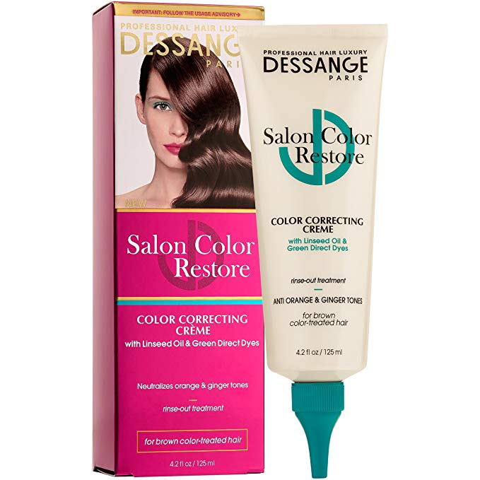 WHOLESALE DESSANGE PARIS SALON COLOR RESTORE COLOR CORRECTING CREME FOR BROWN HAIR 4.2 OZ. - 48 PIECE LOT