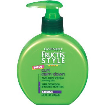 WHOLESALE GARNIER FRUCTIS STYLE CURL CALM DOWN ANTI-FRIZZ CREAM 6 OZ. - 48 PIECE LOT