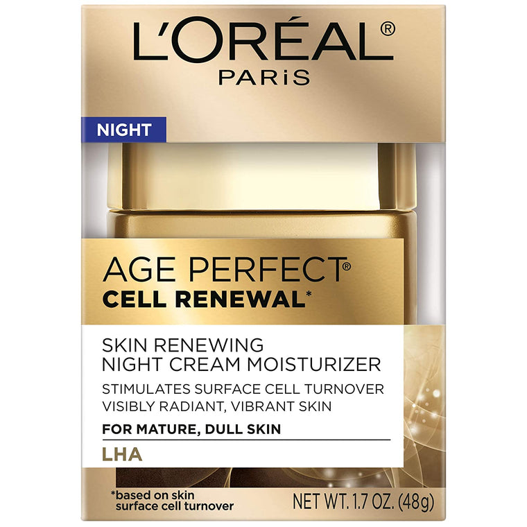 WHOLESALE LOREAL AGE PERFECT CELL RENEWAL SKIN RENEWING NIGHT CREAM MOISTURIZER 1.7 OZ - 48 PIECE LOT