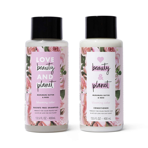 WHOLESALE LOVE BEAUTY AND PLANET MURMURU BUTTER & ROSE SHAMPOO & CONDITIONER SET 13.5 OZ EACH - 48 PIECE LOT