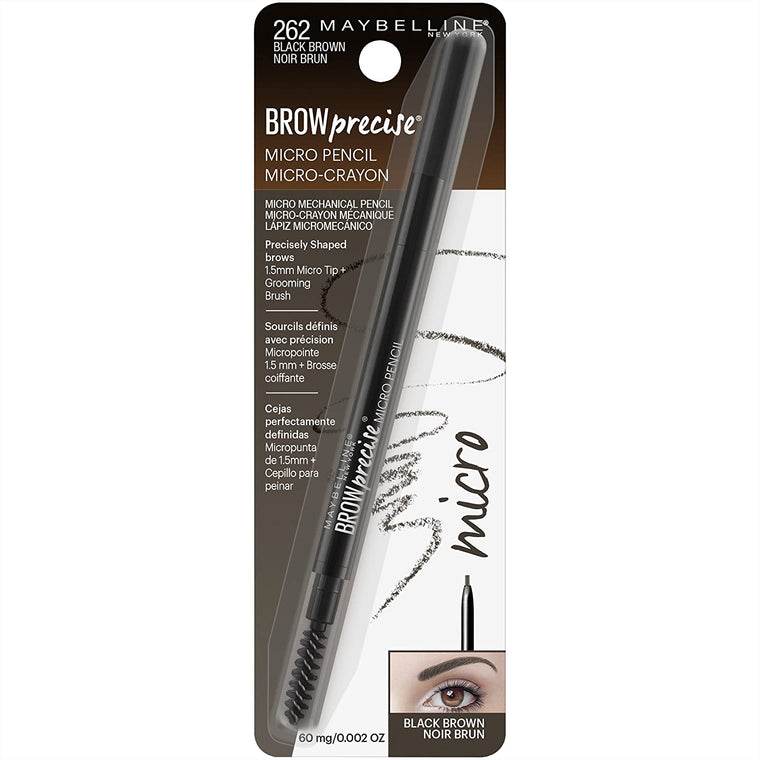 WHOLESALE MAYBELLINE BROW PRECISE MICRO PENCIL - BLACK BROWN 262 - 48 PIECE LOT