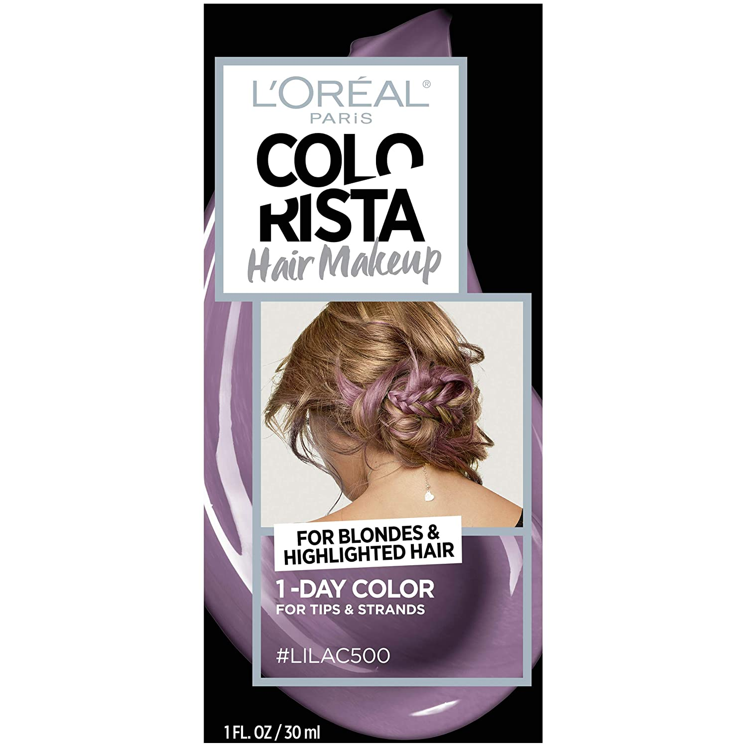 WHOLESALE LOREAL COLORISTA HAIR MAKEUP 1-DAY HAIR COLOR - LILAC 500 - 48 PIECE LOT
