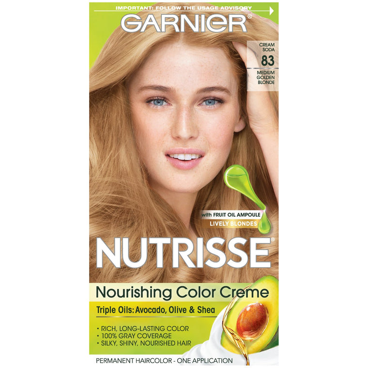 WHOLESALE GARNIER NUTRISSE ULTRA COLOR NOURISHING HAIR COLOR CREME - MEDIUM GOLDEN BLONDE 83  - 48 PIECE LOT