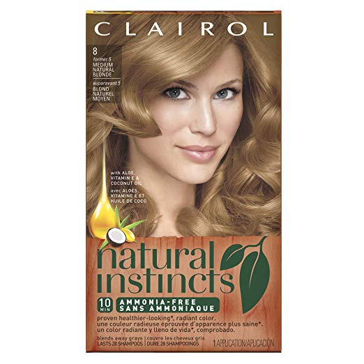 WHOLESALE CLAIROL NATURAL INSTINCTS HAIR COLOR - MEDIUM NATURAL BLONDE 8  - 48 PIECE LOT
