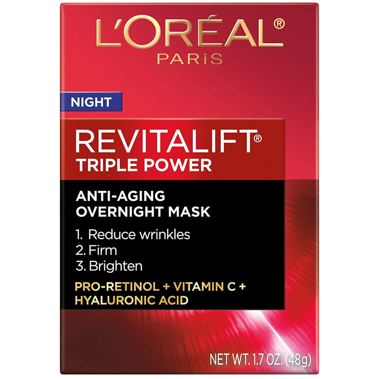 WHOLESALE LOREAL REVITALIFT TRIPLE POWER INTENSIVE ANTI-AGING OVERNIGHT MASK 1.7 OZ - 48 PIECE LOT