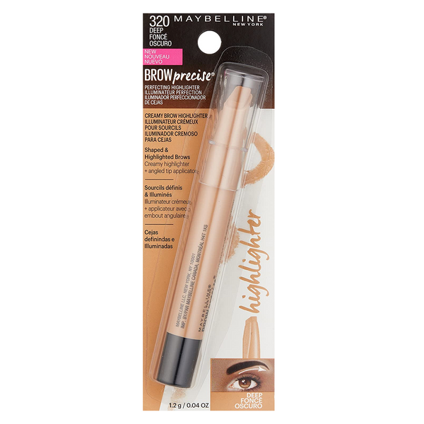 WHOLESALE MAYBELLINE BROW PRECISE PERFECTING HIGHLIGHTER - DEEP / DARK 320 - 48 PIECE LOT