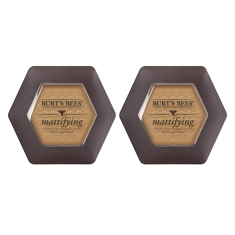 WHOLESALE BURT'S BEES MATTIFYING POWDER FOUNDATION WITH BAMBOO 0.3 OZ (PACK OF 2) - NUTMEG 1130 - 48 PIECE LOT