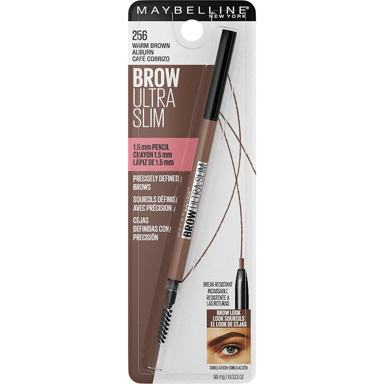 WHOLESALE MAYBELLINE BROW ULTRA SLIM PENCIL - WARM BROWN 256 - 72 PIECE LOT