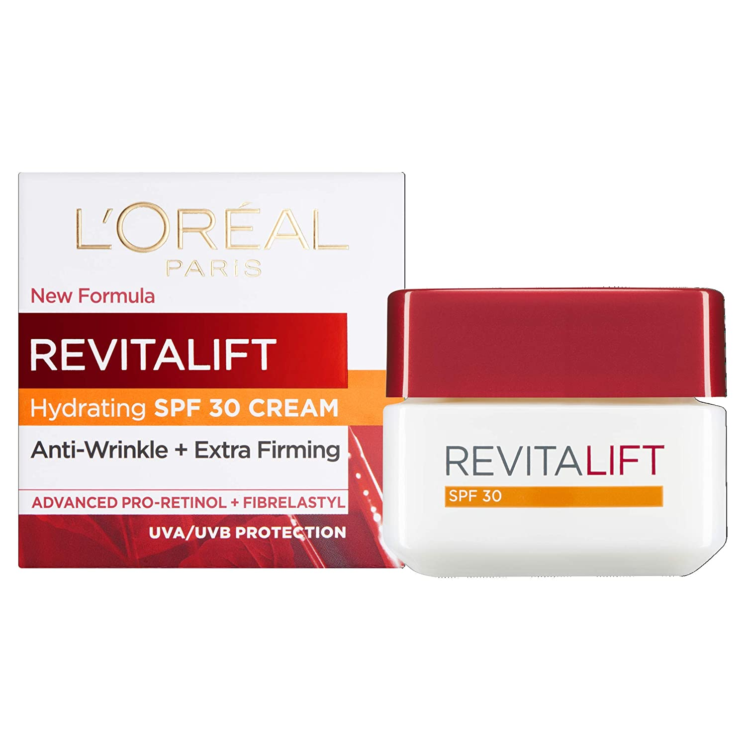 WHOLESALE LOREAL REVITALIFT SPF 30 HYDRATING DAY CREAM ANTI-WRINKLE + EXTRA FIRMING 1.7 OZ - 48 PIECE LOT