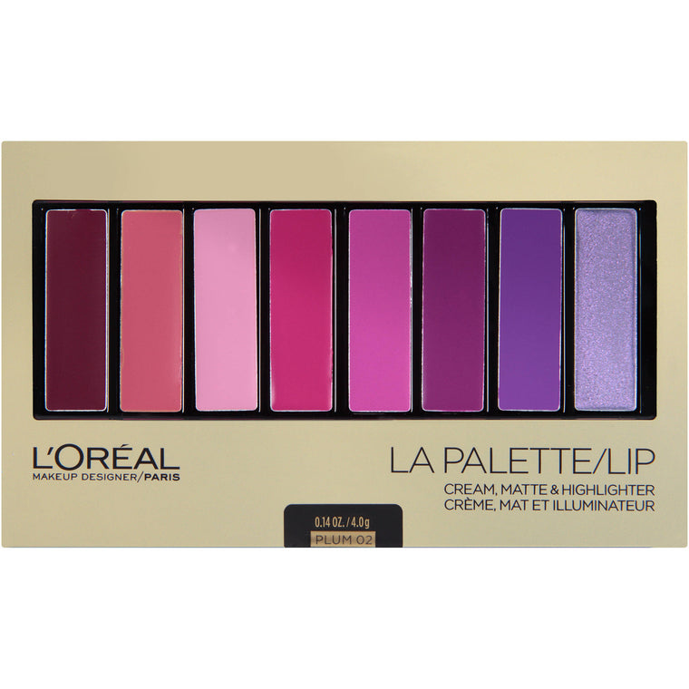 WHOLESALE LOREAL COSMETICS LA PALETTE LIP - PLUM - 48 PIECE LOT