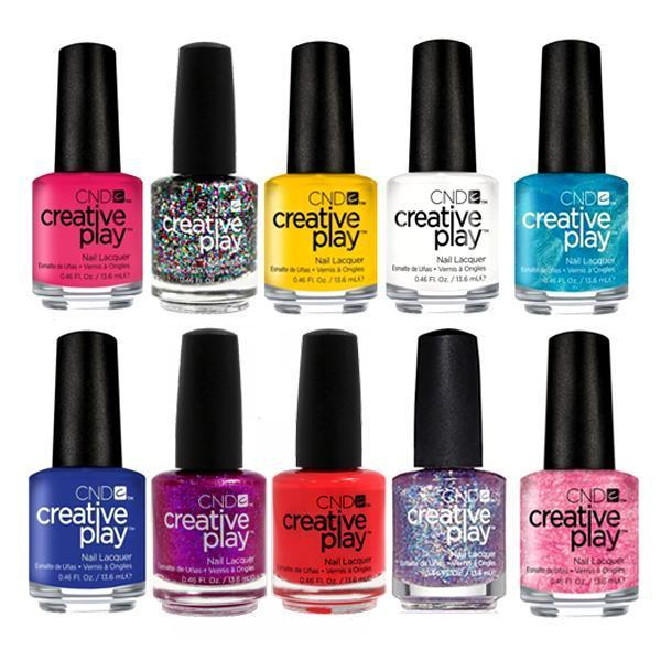 WHOLESALE CND CREATIVE PLAY NAIL LACQUER ASSORTED COLORS - 100 PIECE LOT