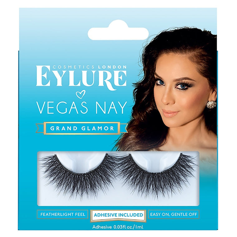 WHOLESALE EYELURE VEGAS NAY GRAND GLAMOR FALSE EYELASHES WITH ADHESIVE INCLUDED - 50 PIECE LOT