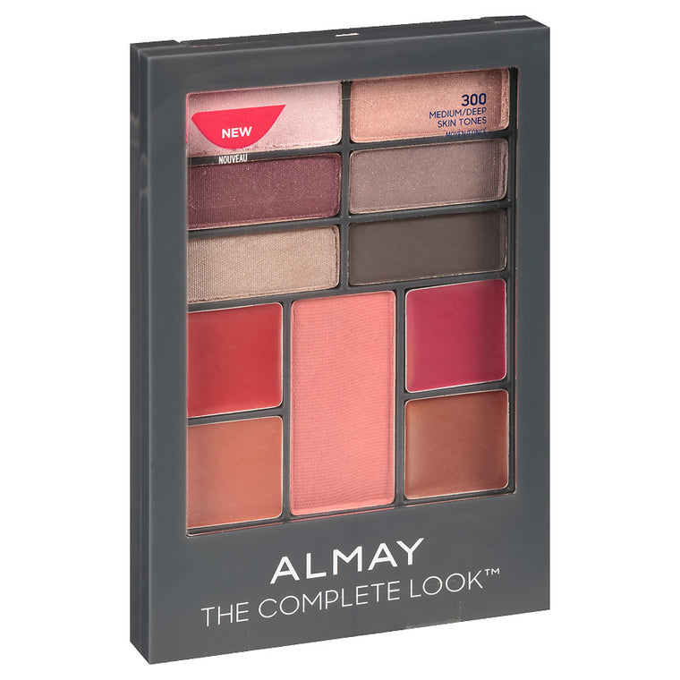 WHOLESALE ALMAY THE COMPLETE LOOK PALETTE - MEDIUM/DEEP 300 - 50 PIECE LOT