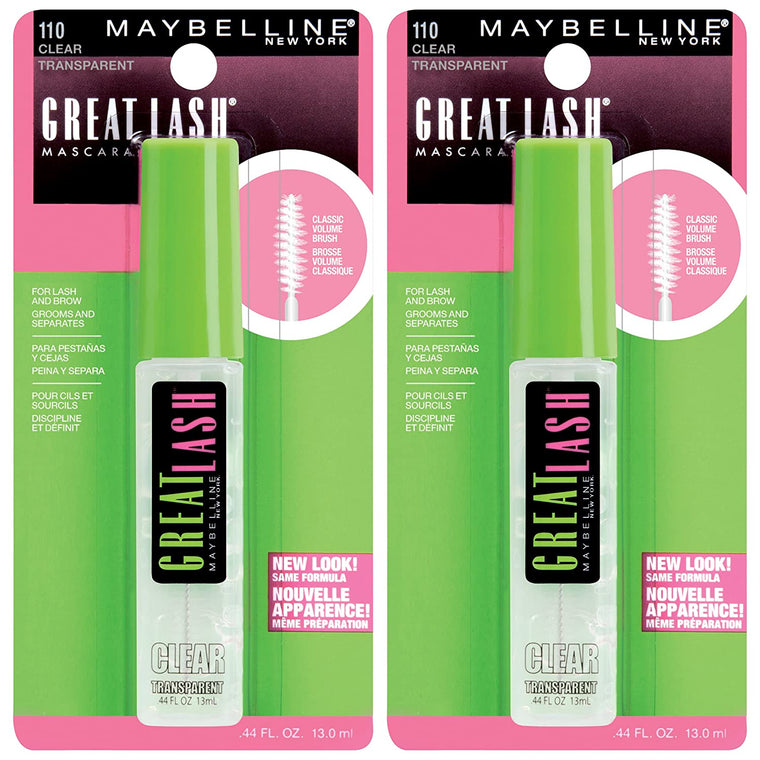 WHOLESALE MAYBELLINE GREAT LASH MASCARA 0.44 OZ (PACK OF 2) - CLEAR 110 - 72 PIECE LOT
