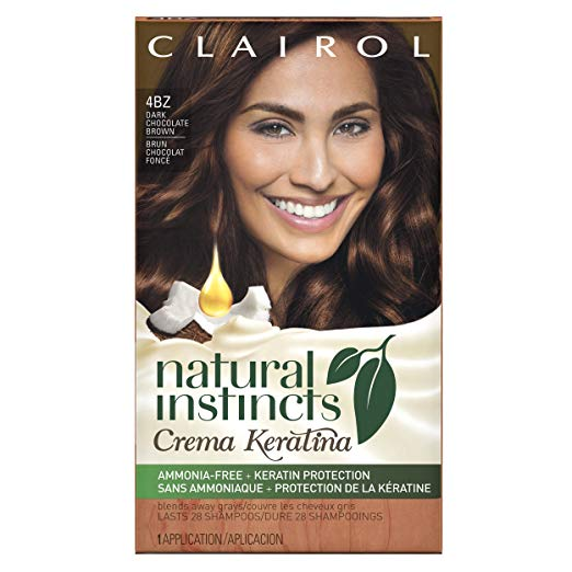 WHOLESALE CLAIROL NATURAL INSTINCTS CREME KERATINA HAIR COLOR - DARK CHOCOLATE BROWN 4BZ - 48 PIECE LOT
