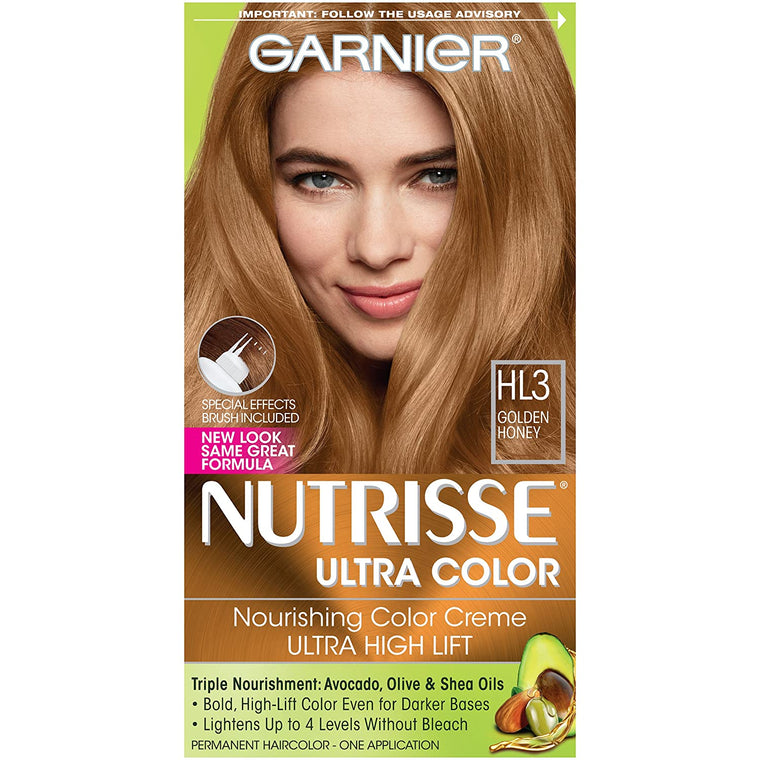 WHOLESALE GARNIER NUTRISSE ULTRA COLOR NOURISHING HAIR COLOR CREME - GOLDEN HONEY HL3  - 48 PIECE LOT