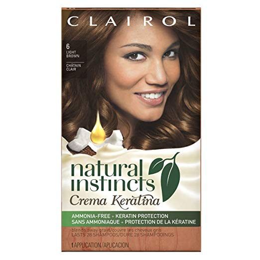 WHOLESALE CLAIROL NATURAL INSTINCTS CREME KERATINA HAIR COLOR - LIGHT BROWN 6 (CAPPUCCINO CREME)  - 48 PIECE LOT