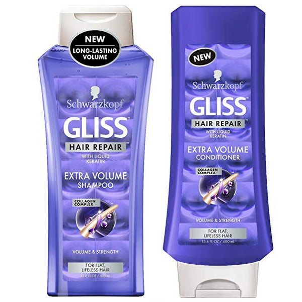 WHOLESALE GLISS HAIR REPAIR EXTRA VOLUME SHAMPOO & CONDITIONER SET 13.6 OZ - 48 PIECE LOT
