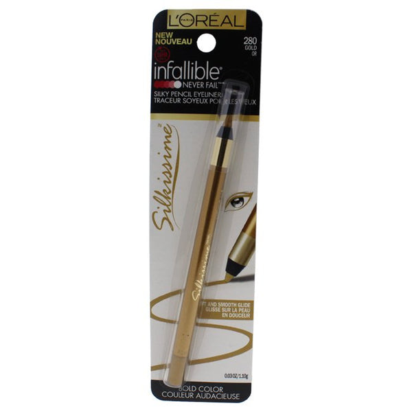 WHOLESALE LOREAL INFALLIBLE NEVER FAIL SILKY PENCIL EYELINER - GOLD 280 - 72 PIECE LOT