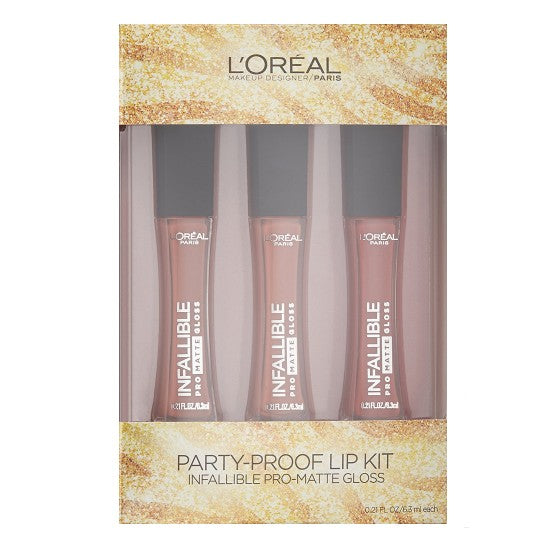 WHOLESALE LOREAL PARTY-PROOF LIP KIT INFALLIBLE PRO-MATTE GLOSS SET - 48 PIECE LOT