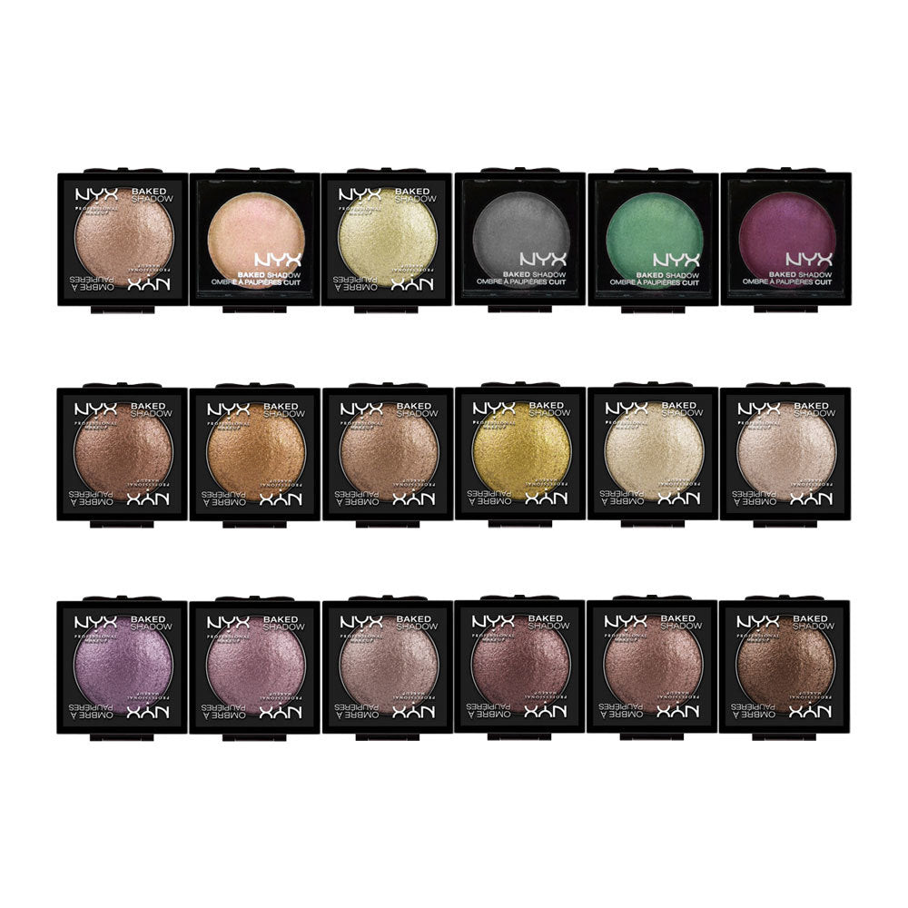 WHOLESALE NYX COSMETICS BAKED EYE SHADOW ASSORTED - 50 PIECE LOT