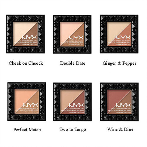 WHOLESALE NYX COSMETICS CHEEK CONTOUR DUO PALETTE ASSORTED - 50 PIECE LOT