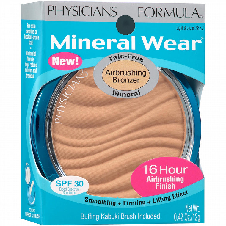 WHOLESALE PHYSICIANS FORMULA MINERAL WEAR AIRBRUSHING BRONZER 0.42 OZ - LIGHT BRONZER 7857 - 48 PIECE LOT