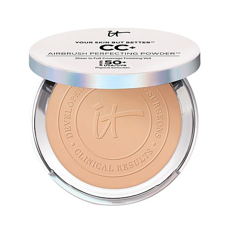 WHOLESALE IT COSMETICS YOUR SKIN BUT BETTER CC+ AIRBRUSH PERFECTING POWDER SPF 50 - MEDIUM TAN - 48 PIECE LOT