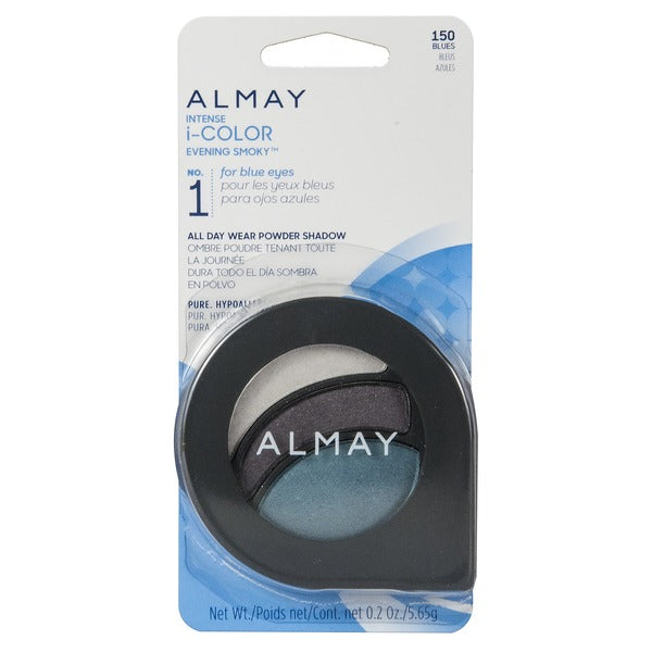 WHOLESALE ALMAY INTENSE I-COLOR EVENING SMOKY ALL DAY WEAR POWDER SHADOW - BLUES 150 - 48 PIECE LOT