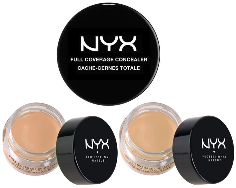 WHOLESALE ASSORTED NYX COSMETICS FULL COVERAGE CONCEALER 0.25 OZ. - 50 PIECE LOT