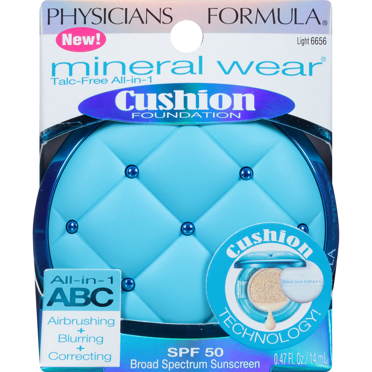 WHOLESALE PHYSICIANS FORMULA MINERAL WEAR CUSHION FOUNDATION - LIGHT 6656 - 48 PIECE LOT