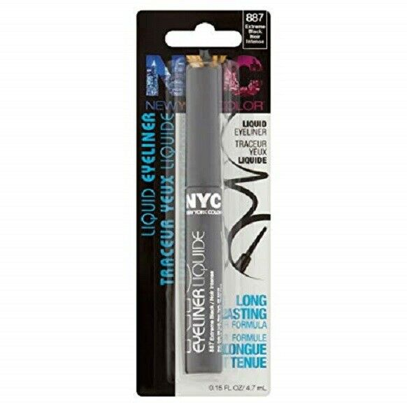WHOLESALE N.Y.C. NEW YORK COLOR LIQUID EYELINER - EXTREME BLACK - 72 PIECE LOT