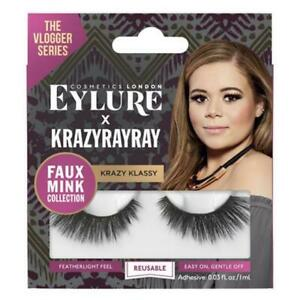 WHOLESALE EYELURE THE VLOGGER SERIES KRAZYRAYRAY FALSE EYELASHES WITH ADHESIVE - KRAZY KLASSY - 50 PIECE LOT