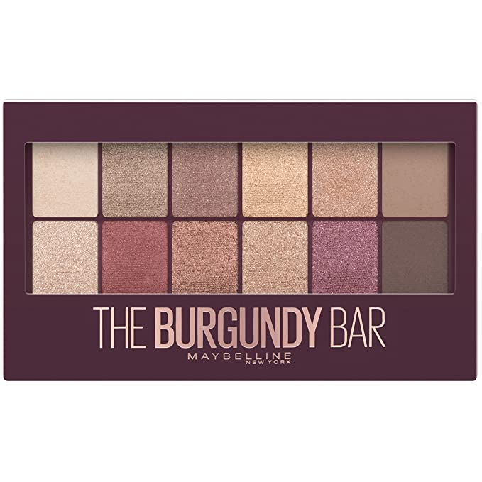 WHOLESALE MAYBELLINE THE BURGUNDY BAR EYESHADOW PALETTE - 72 PIECE LOT
