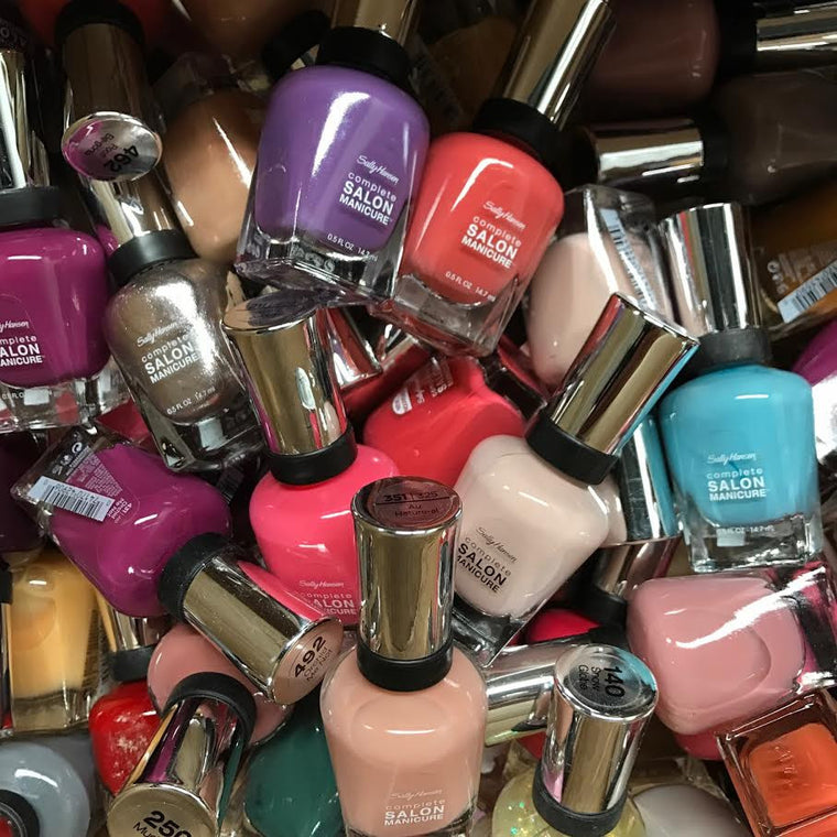 WHOLESALE ASSORTED SALLY HANSEN SALON MANICURE NAIL POLISH ASSORTED - 100 PIECE LOT