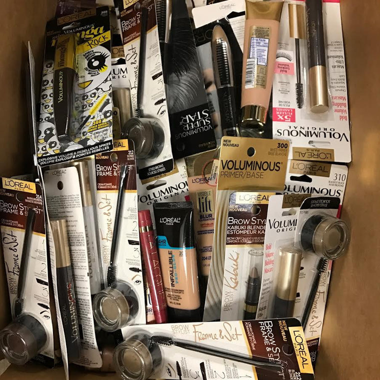 WHOLESALE ASSORTED LOREAL COSMETICS LOT - 100 PIECE LOT