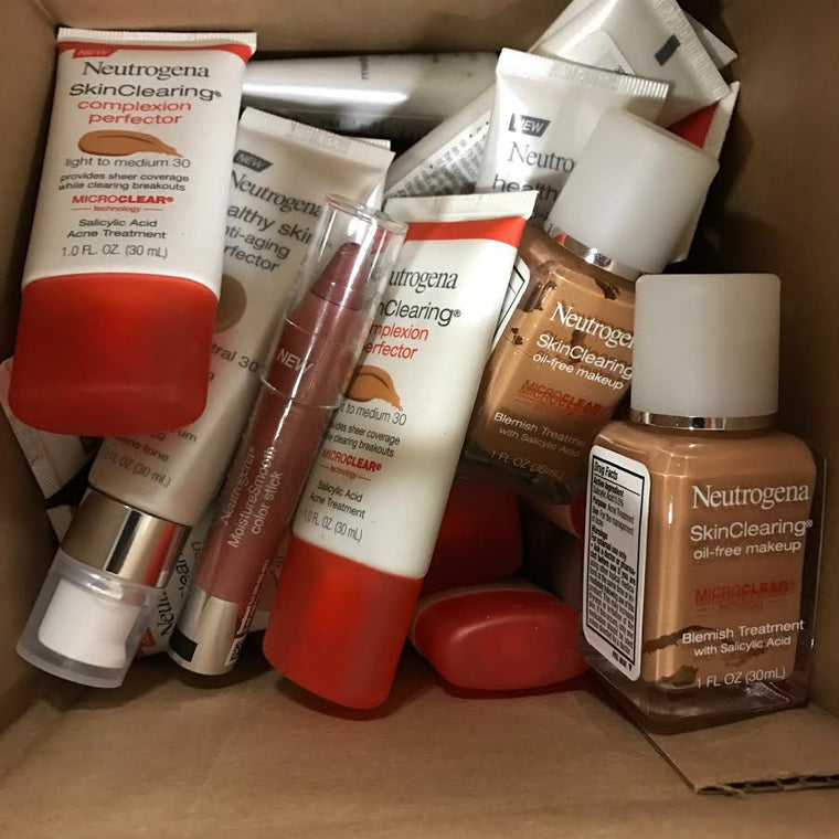 WHOLESALE ASSORTED NEUTROGENA COSMETICS LOT - 100 PIECE LOT