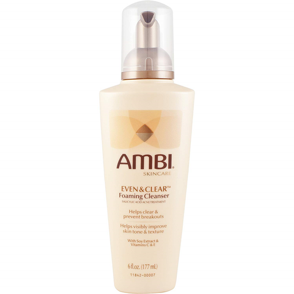 WHOLESALE AMBI EVEN & CLEAR FOAMING CLEANSER 6 OZ. - 48 PIECE LOT