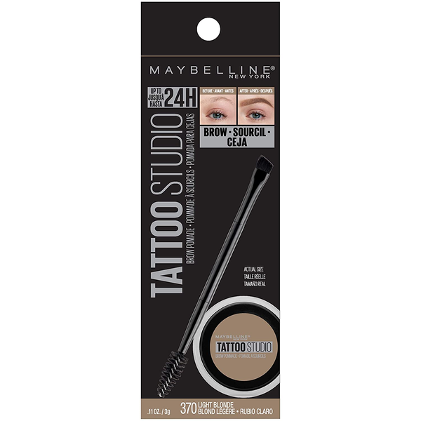 WHOLESALE MAYBELLINE TATTOOSTUDIO BROW POMADE 0.11 OZ - LIGHT BLONDE 370 - 48 PIECE LOT