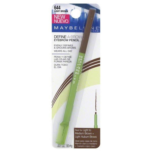 WHOLESALE MAYBELLINE DEFINE-A-BROW EYEBROW PENCIL - LIGHT BROWN 644 - 72 PIECE LOT