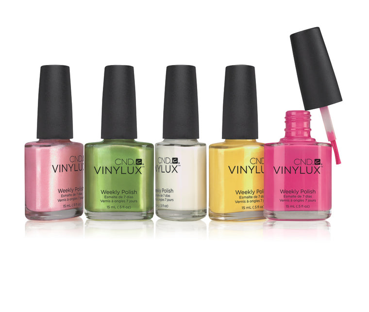 WHOLESALE CND VINYLUX WEEKLY POLISH NAIL LACQUER ASSORTED COLORS - 100 PIECE LOT