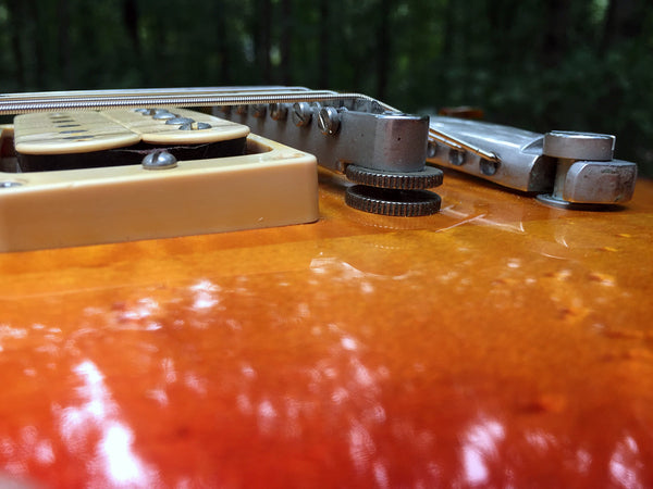 Bridge Stabilizing Set for Gibson ABR-1 • Absolute Vintage Collection • LIX  Patina Nickel