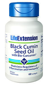 Life Extension Black Cumin Seed Oil W/Bio-Curcumin 60 Capsules-Speedy Health Supplements